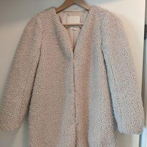 Cream teddy coat from Aritzia